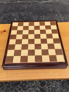 Chess/Checkers Wood Piece Set
