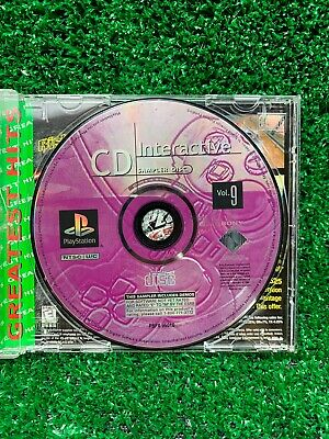 CD INTERACTIVE SAMPLER DISC VOL. 9 Playstation demo disc PS1 Tested and Working