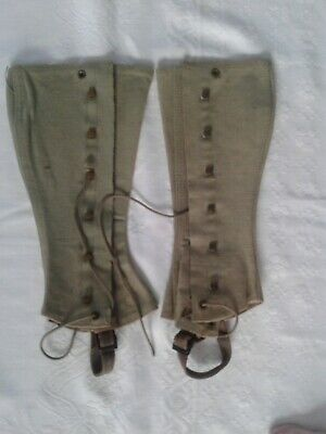 Spats, Gaiters, Puttees – Vintage Shoes Covers Vintage Military World W ar 11 Army Spats Gaiters Leggings Canvas $14.00 AT vintagedancer.com