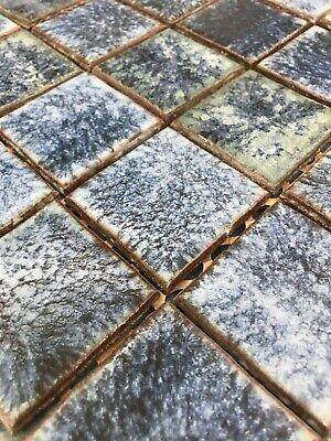 Vintage Tile New Old Stock Blue Glazed 2