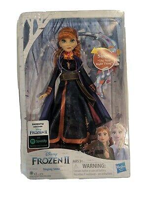 Disney Frozen 2 Singing Anna Musical Fashion Doll with Purple Dress