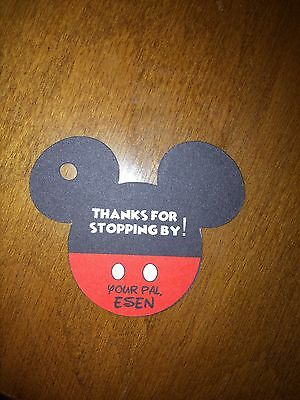 12 Personalized Disney MICKEY MOUSE head favor tags- birthday party, baby - Baby Mickey Mouse Birthday