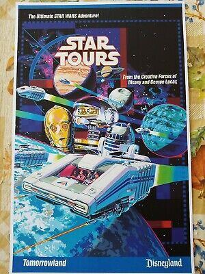 Star Wars Star Tours Poster Print 11x17 C3PO R2D2 Disney