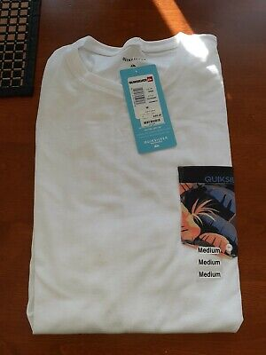 Quicksilver Graphic White T Shirt Palm Tree Pocket Mens Size M Medium New 40$
