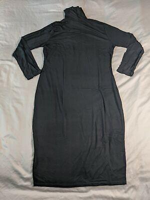 Boohoo Women's Plus Long Sleeve Roll Neck Midi Dress JM4 Black Size US:14 UK:18