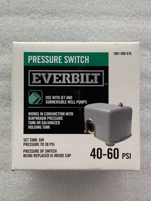 Everbilt EBPS3050 30//50 Pressure Switch for Well Pumps Tank Jet Submersible