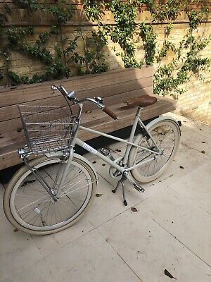 Veloretti Women's Bike Caferacer in Pebble Grey 1S Back Brake