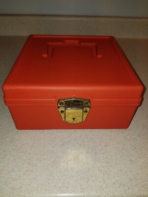 Vintage Porta Check File Ballonoff Plastic Organizer Box With Key And Divider