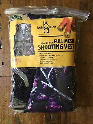 9aa8081fee0c7 NWT Bob Allen Ladies M/L Full Mesh Shooting Vest Muddy Girl Camouflage Pink