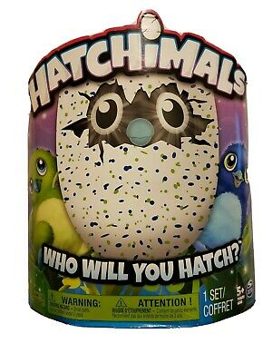 NEW Hatchimals Draggles Blue/Green Egg Electronic Plush Toy - Spin Master