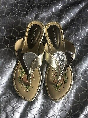 HUSH PUPPIES LEATHER TOE PIST WEDGE SANDALS SIZE 5