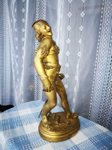 Magnificent bronze statue of joker