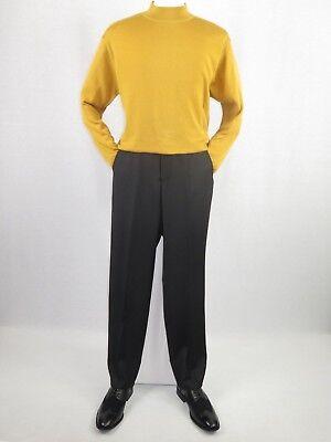 Knit Mock Neck Pullover - Mens Inserch Mock Neck Pullover Knit Soft Cotton Blend Sweater Winter 4308 Gold