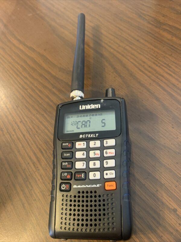 Uniden Bearcat BC75XLT Handheld Scanner Tested                                 C
