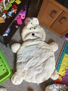 Fuzzy bunny  back and tummy time mat