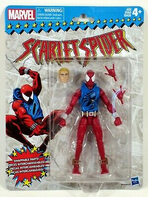 "Marvel Legends 2018 Vintage Retro Style 6"" SCARLET SPIDER Wave 2 Action Figure"