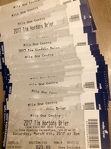 2017 Tim Hortons Brier ticket for sale