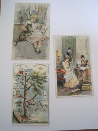 SEWING TRADE CARDS Domestic Pin Heads Child Sewing Circle Boss  Lot 3 Ill