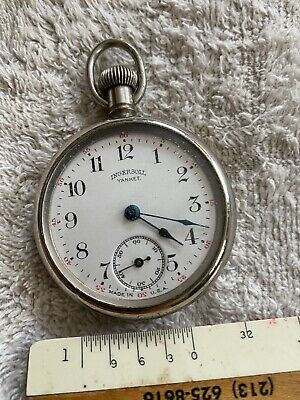 Antique Ingersoll Yankee Pocket Watch Glass Crystal