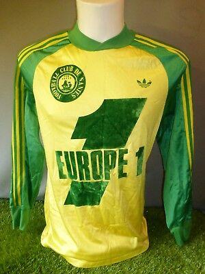 Nantes Football Shirt 1977/79 Adult Small Home Adidas Ventex image
