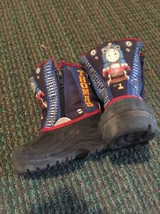 Size 7 Thomas the Engine zipper Winter Boots