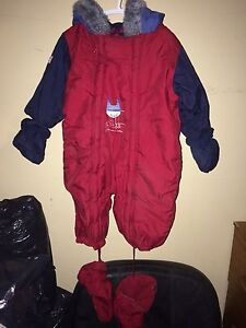 1 pc Red and Blue Snowsuit Size 2T/24 mos