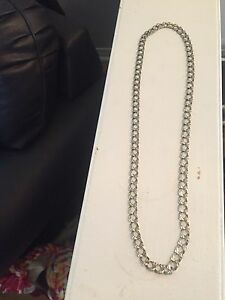 10k men's white gold necklace