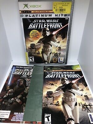 XBOX Star Wars Battlefront 2 Platinum Hits Complete Tested 100% CIB