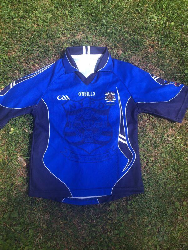 O'Neills Boy's Sz 9/10yo NYPD Gaelic Football Replica Jersey ~Blue/Black/White~