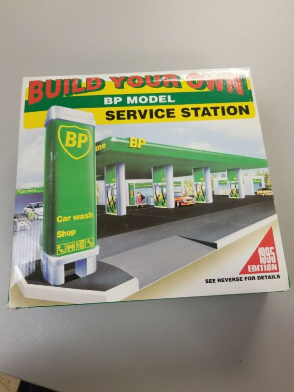 Vtg Build Your Own BP Gas Service Station Model Kit - 1995 Edition - NIB - READ!