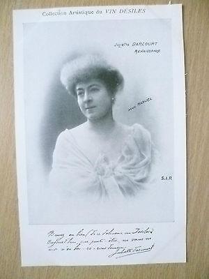 Postcards- Theatre & Opera Actresses JULIETTE DARCOURT by Vin Desiles