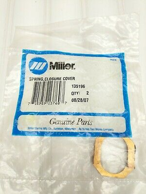 Miller Welder Welding Spring Closure Cover 135196 Qty Of 2 715959137607