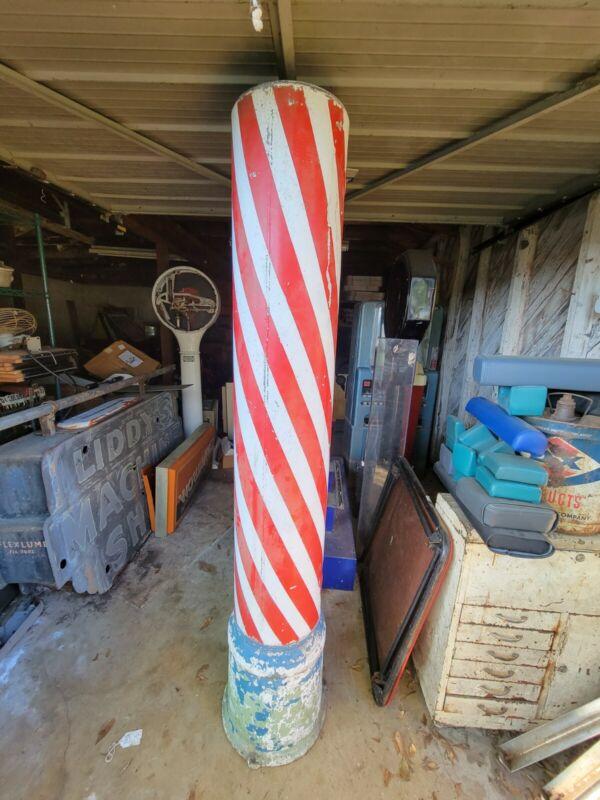 Large Vintage Metal Barber Pole