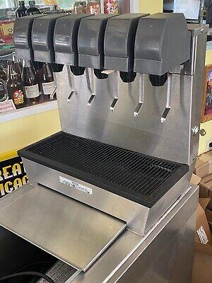 Servend 6 Valve Drop-in Beverage Dispenser Cabinet 60lb Ice Bin Syrup Rack