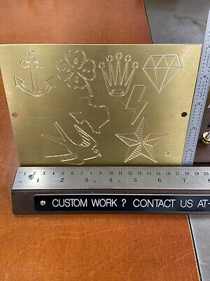 8 Image Multi 3 Master Template Brass Engraving Plate For New Hermes Font Tray