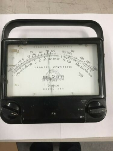 Simpson Thermometer, Model 388, Vintage