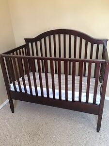 Baby Crib That Converts To Toddler Bed With Mattress And Cover