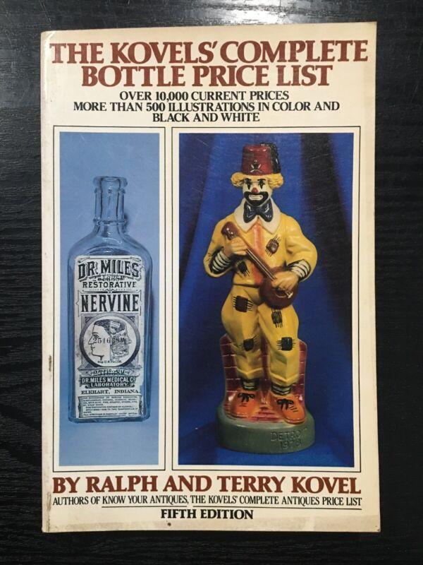 Kovel's Complete Bottle Price List 5th Edition 1979
