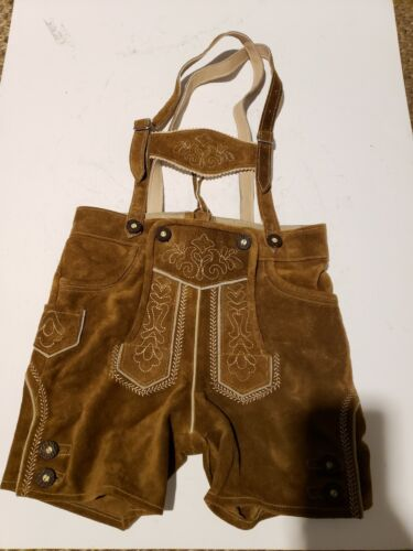 Lederhosen Outfit German Oktoberfest Trachten Leather Shorts 116 sz 6
