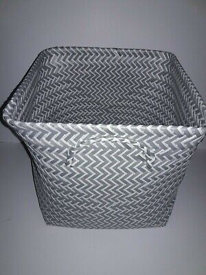 Large Woven Square Storage Basket - Gray and White - Room - Square Storage Baskets