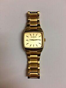 Men's Nixon The Manual II Watch Gold Tone