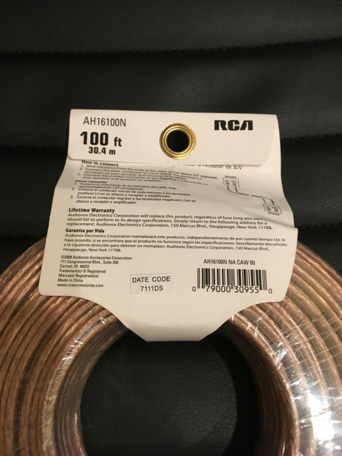 RCA 100 Feet 16 Guage Speaker Wire 100ft 16ga AH-16100N Pro Audio A/V Electronic - $13.89