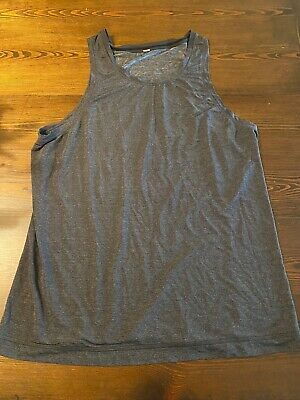 Lululemon Men's Grey Athletic Sleeveless Tank Top Size Large