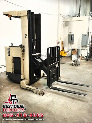 Crown Rr3510-35 Reach Truck Forklift Rebuilt Battery 7990 Hours 210 Mast