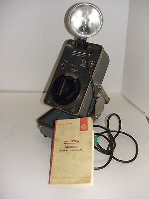 General Radio Company 1531-a Strobotac Electronic Stroboscope Tachometer Working