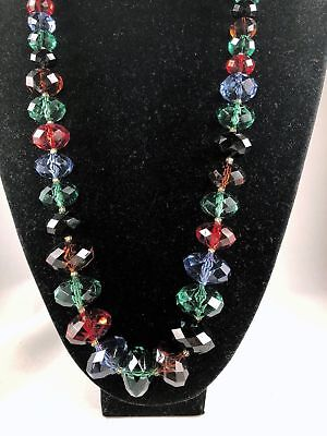 Necklace with Stones, Ruby, Emerald, Onyx Black, Sapphire, Topaz Joan Rivers,