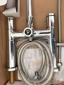 Deck Mount Cheviot Bath Tub Taps and Hand Held Shower  NEW!!!!!