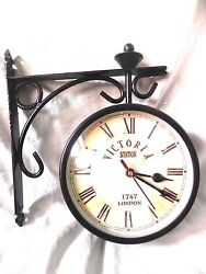VICTORIA STATION 1747 LONDON RAILWAY CLOCK LONDON DOUBLE SIDE CLOCK 6 INCHES