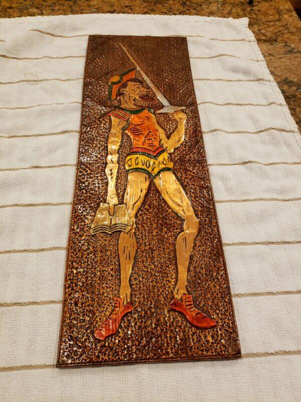 Vintage Copper Wall Plaque DON QUIXOTE