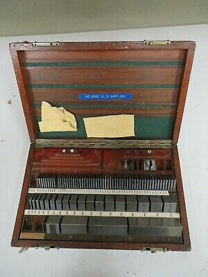 Pratt Whitneyhokemixed 81 Piece Square English Gage Block Set - Ns21
